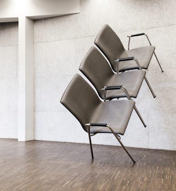 MSM Stuhl 3285 Sitzschale gepolstert Gestell Chrom