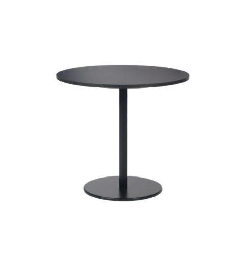MSM Tisch Modell 225 Beistelltisch schwarz Tischplatte rund