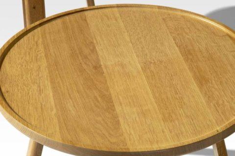 MSM Tischmodell Marie Beistelltisch aus massiver Eiche Tischplatte von oben