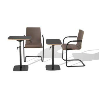 MSM work table 3 Beistelltisch höhenverstellbar und Tischplatte klappbar Gestell schwarz