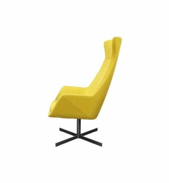 MSM Stuhl FF3 Loungestuhl gelb gepolstert