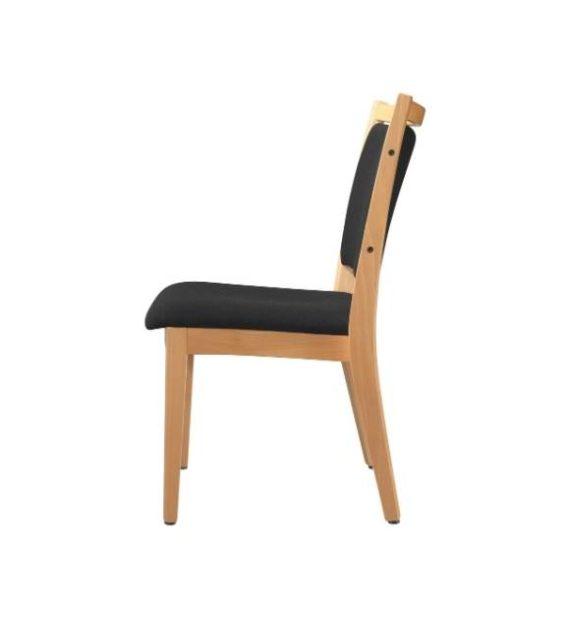 MSM Stuhl Modell Wood 4051Gestell Holz Sitzfläche und Rückenlehne gepolstert