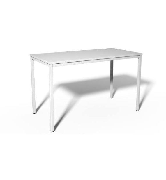 MSM Tisch 200 Gestell weiß, Tischplatte weiß
