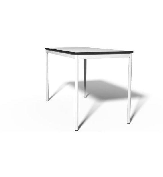 MSM Tisch 204 Gestell weiß, Tischplatte weiß