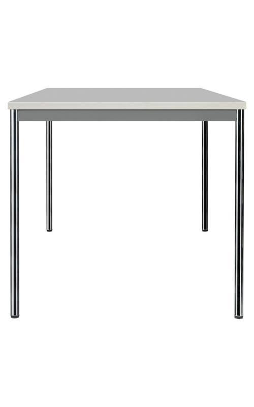 MSM Tisch 204 Gestell Chrom, Tischplatte weiß