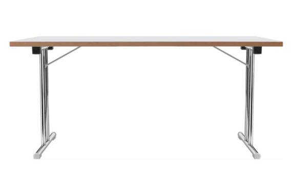 MSM Tisch Modell 211 klappbar Gestell Chrom Tischplatte weiß beschichtet