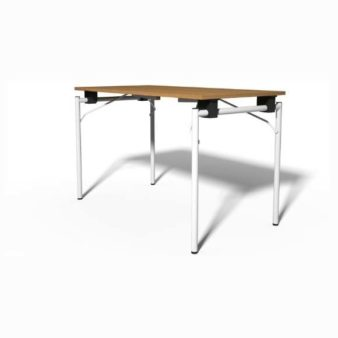 MSM Tisch Modell 211 klappbar weißes Gestell Tischplatte Holz