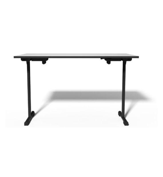 MSM Tisch Modell 221 Klapptisch schwarzes Gestell Tischplatte weiß
