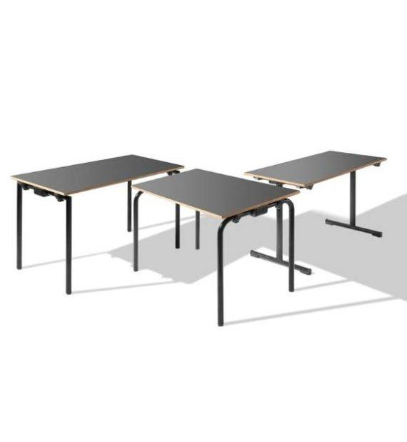 MSM Tisch Modell 221 Klapptisch schwarzes Gestell Tischplatte schwarz
