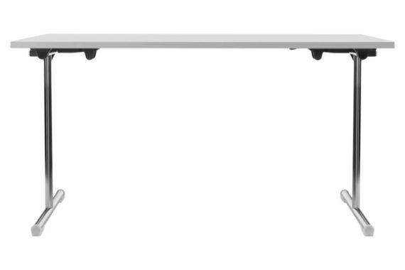 MSM Tisch Modell 221 Klapptisch Gestell Chrom Tischplatte weiß