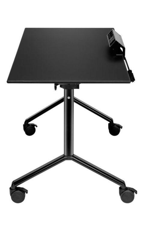 MSM Tisch Modell 222 schwarz klappbar mit Elektrifizierung