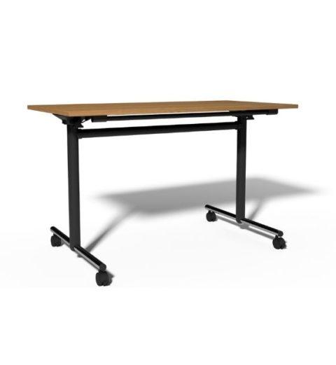 MSM Tisch Modell 222 Gestell Chrom Tischplatte Holz