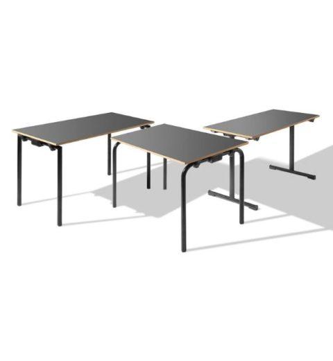 MSM Tisch Modell 224 in Gruppe mit 3 verschiedenen Gestellen schwarz