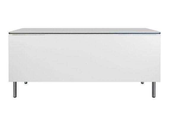 MSM Tisch Modell 224 weiße Tischplatte, Gestell Chrom, klappbar