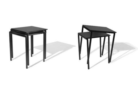 MSM Tisch 224 starr und stapelbar Gestell schwarz Tischplatte schwarz