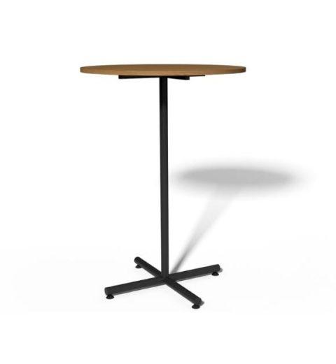 MSM Stehtisch 508, Bistrotisch, Gestell schwarz, Tischplatte rund, aus Holz