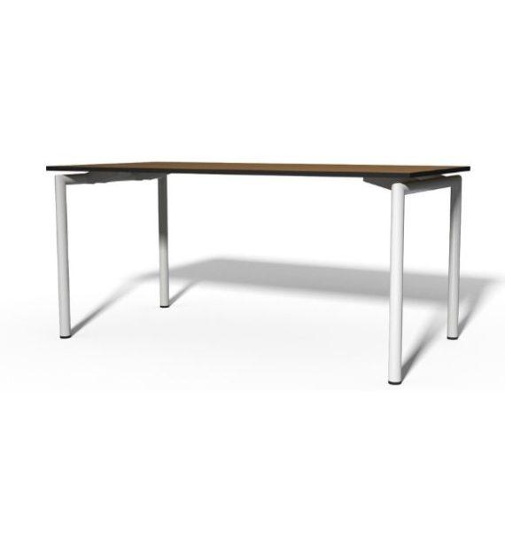 MSM Tisch 224 Gestell weiß, Tischplatte Holz