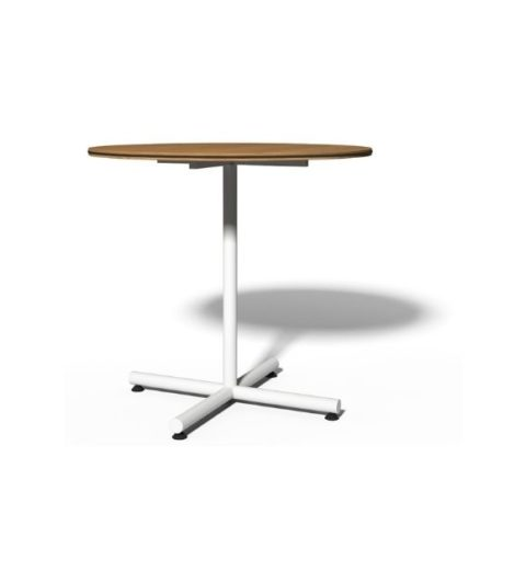 MSM Tisch 508, Bistrotisch, Gestell weiß, Tischplatte rund, aus Holz