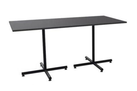 MSM Tisch 508 schwarz, rechteckige Tischplatte