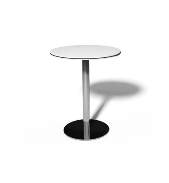 MSM Tisch 509, Bistrotisch, Gestell Chrom, Tischplatte rund, weiß