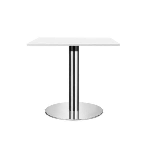 MSM Tisch 509, Bistrotisch, Gestell Chrom, Tischplatte rechteckig, weiß