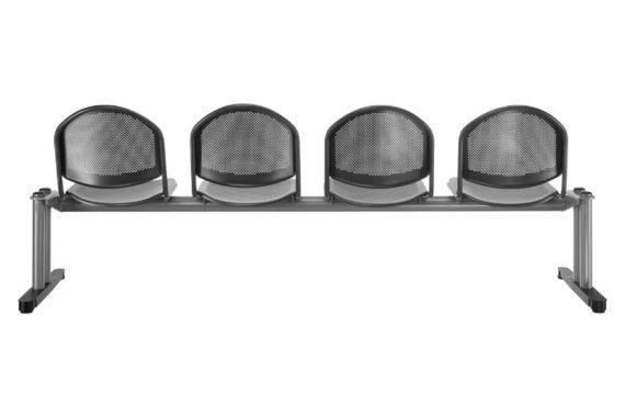 MSM Traversenbank Bench Modell 7001 lang schwarz