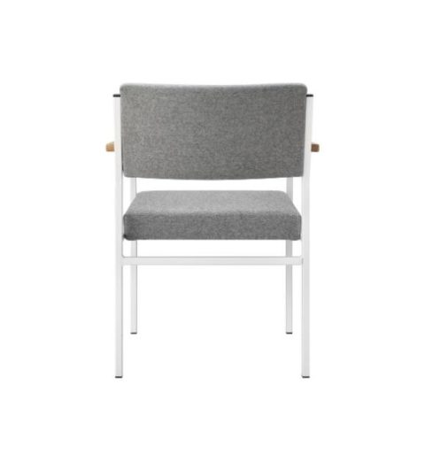 MSM Stuhl 3060 Gestell weiß Armlehne