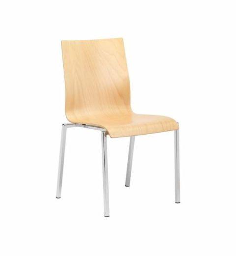 MSM Stuhl 3420 Sitzschale Buche Gestell Chrom