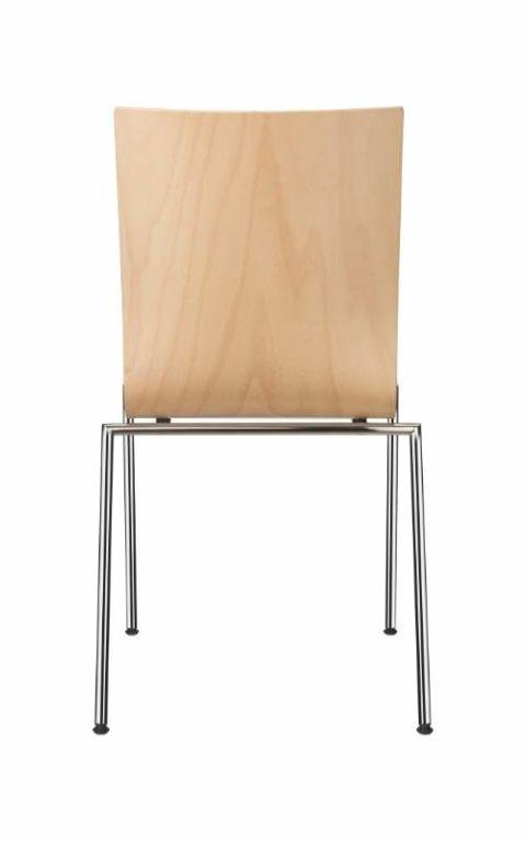 MSM Stuhl 3420 Sitzschale Holz Gestell Chrom