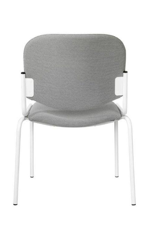MSM Stuhl 5020 Polster grau Gestell weiß