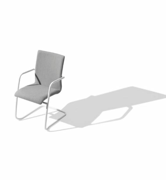 MSM Stuhl 5078 Polster grau Gestell weiß
