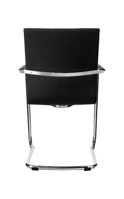 MSM Stuhl 5078 Polster schwarz Gestell Chrom