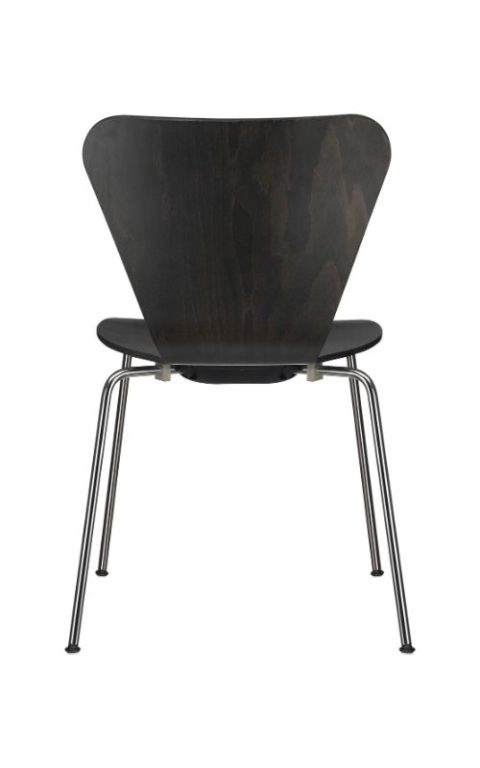 MSM Stapelstuhl Classic Modell 3345 Holzschale schwarz gebeizt Rückenansicht