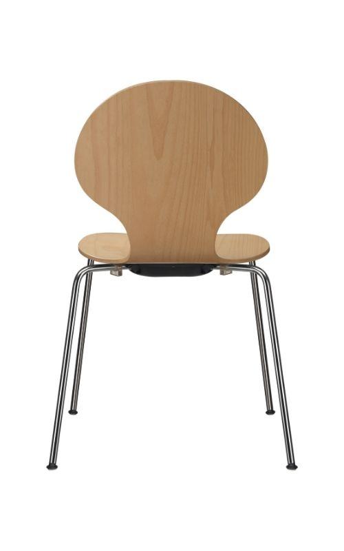 MSM Stapelstuhl Classic Modell 3346 Sitzschale Holz Gestell chrom