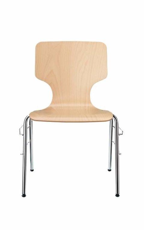MSM Stapelstuhl Serie 3500 und Sitzschale aus Holz