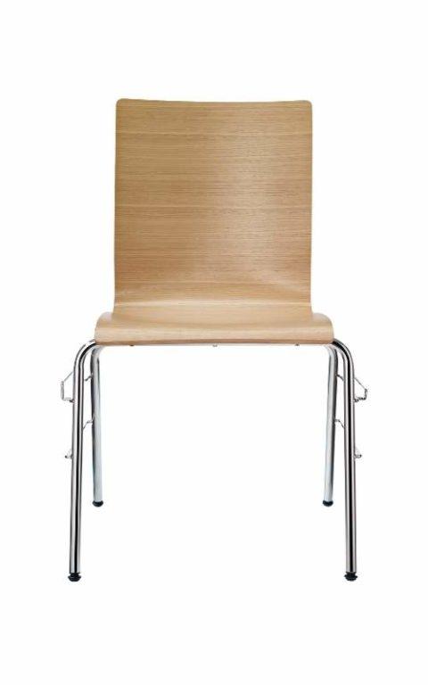 MSM Stapelstuhl Serie 3500 und Sitzschale aus Eiche