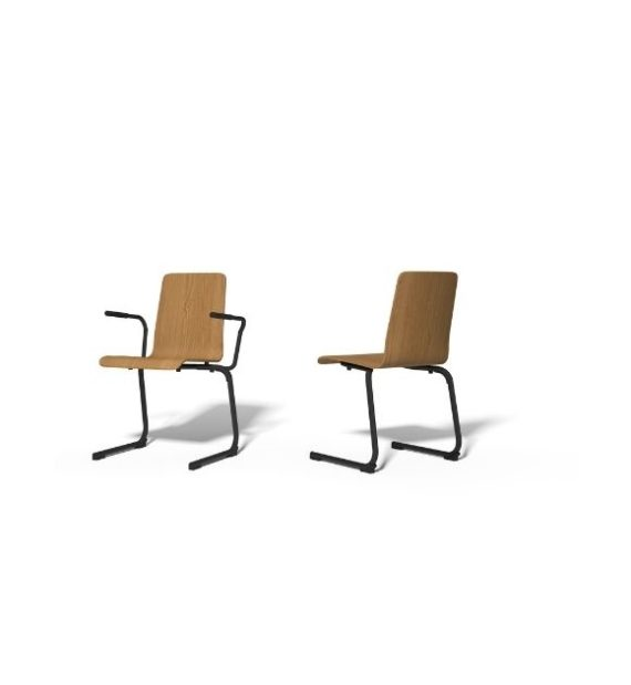 MSM Stapelstuhl Serie 3100 C Fuß und Sitzschale aus Holz Gestell schwarz