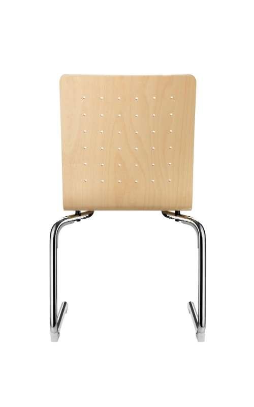 MSM Stapelstuhl Serie 3100 C Fuß Gestell und Sitzschale aus Holz