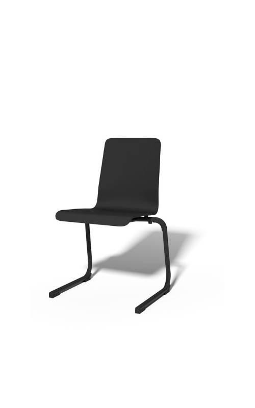 MSM Stapelstuhl Serie 3100 C Fuß Gestell schwarz und Sitzschale schwarz