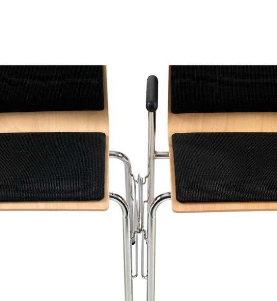 MSM Stapelstuhl Serie 3500 zwei Stühle verkettet