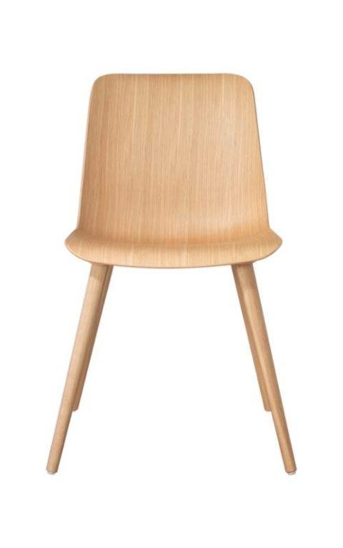 MSM Stuhl FF3 Sitzschale Holz Gestell Holz