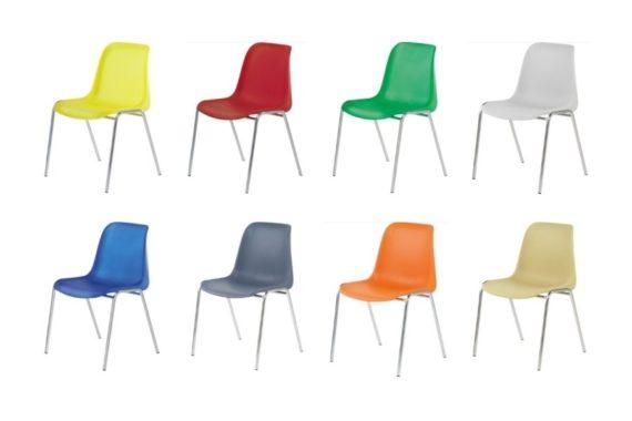 MSM Stapelstuhl 3150 Auswahl an Kunststoffschalen in vielen Farben