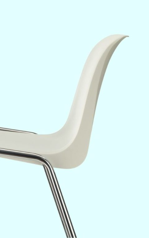 MSM Stapelstuhl 3150 Form Sitzschale seitlich