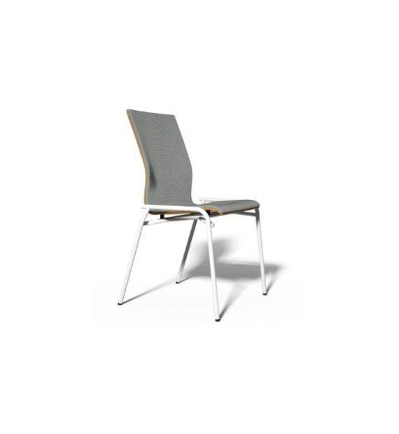 MSM Stuhl 3285 Sitzschale gepolstert Gestell weiß