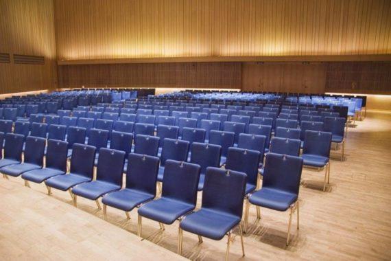 MSM Stuhl 3285 Sitzschale gepolstert Gestell Chrom im Saal in Brunkerhaus Linz