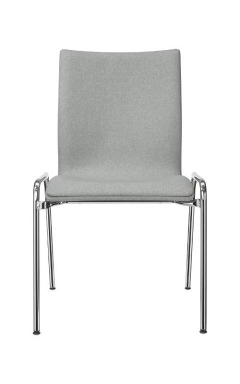 MSM Stuhl 3285 Sitzschale gepolstert grau Gestell Chrom