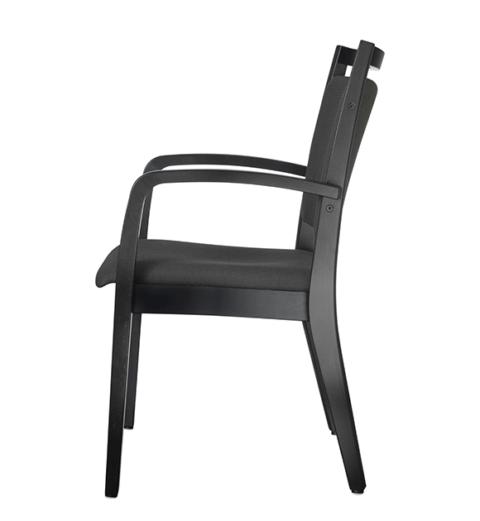 Wood 4051Gestell Holz Sitzfläche und Rückenlehne gepolstert