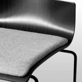 MSM Barhocker 3311 grau gepolsterte Sitzfläche