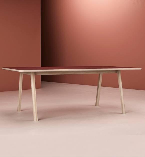 Massivholztisch Lotte, Holzgestell Eiche, große Tischplatte