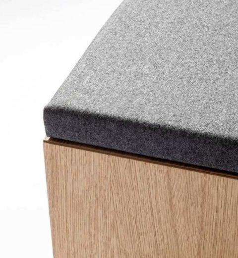 MSM Sitzbank graues Polster im Detail